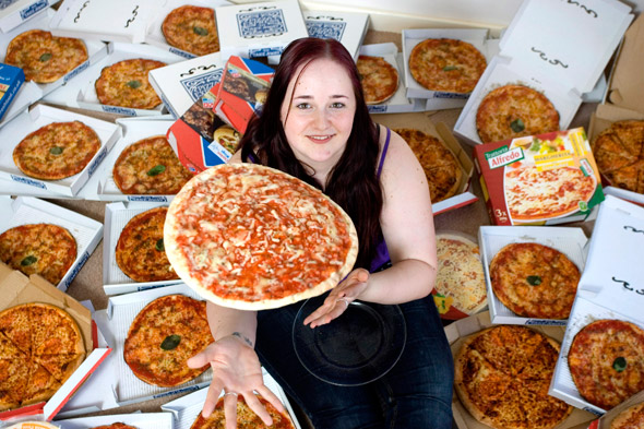 Teenage girl lives on diet of cheese and tomato pizza