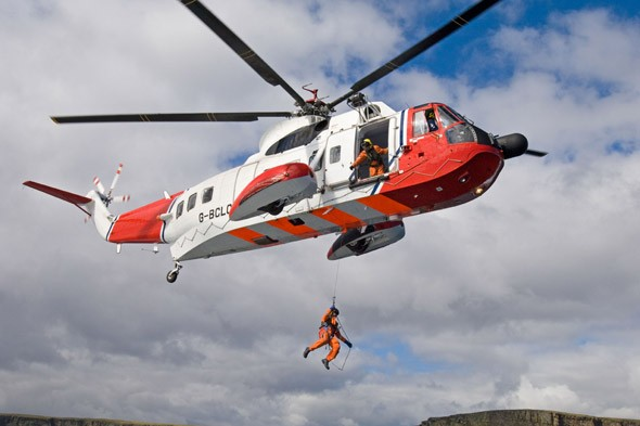 Stressful! Baby born 1000 ft in the air inside Coastguard helicopter!