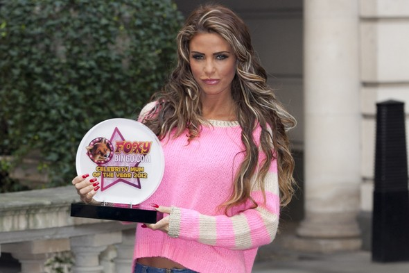 Katie Price wins Celebrity Mum of the Year for the second time