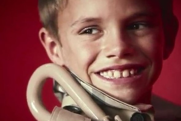 Following in dad's footsteps: Romeo Beckham stars in his first-ever modelling shoot