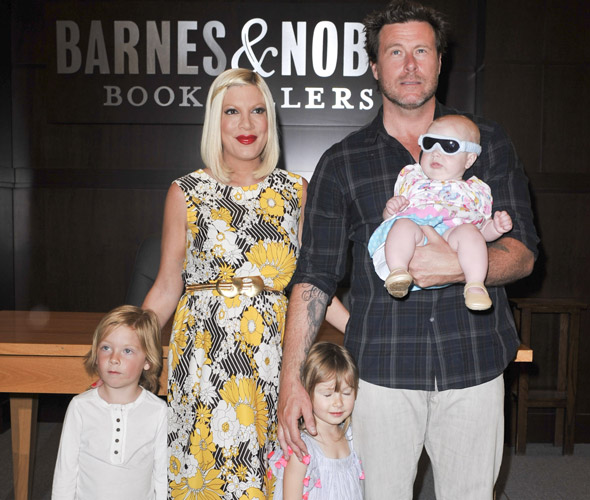 Tori Spelling gives birth to fourth child Finn - 10 months after daughter Hattie was born