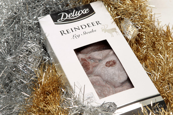 Christmas reindeer steaks for sale at Lidl