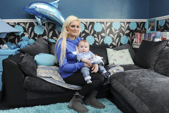 Mum who painted her whole house pink redecorates in blue for baby boy