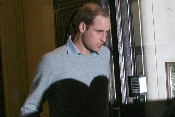 Prince William leaves hospital Kate's bedside
