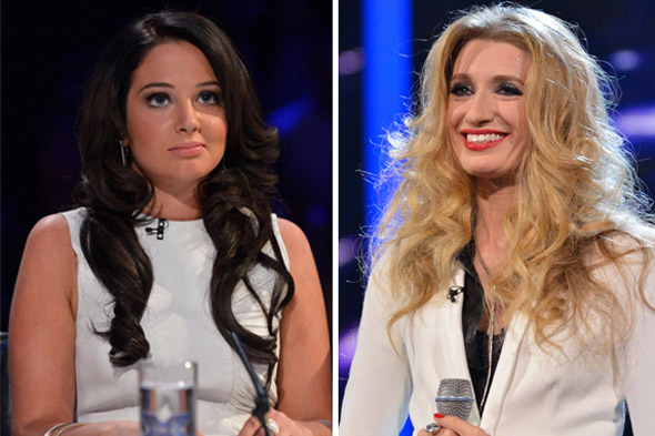 X Factor apology after Tulisa calls mum-of-two Melanie a MILF!