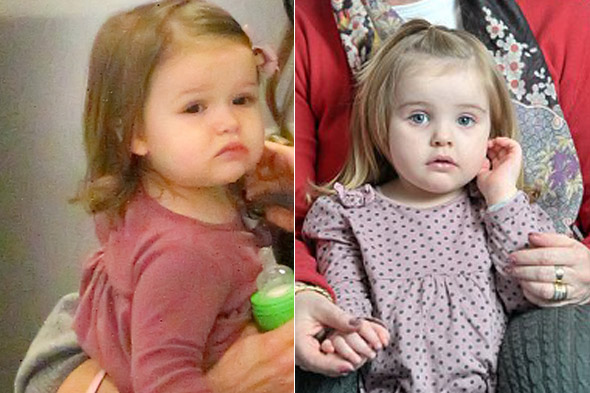 Harper Beckham lookalike toddler signed up by London celeb doubles agency