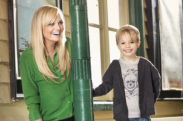 Emma Bunton and son Beau model for Argos