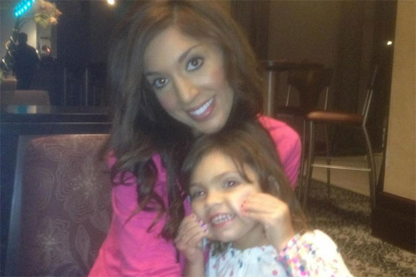 Teen Mom star Farrah Abraham waxes three-year-old daughter's brows...