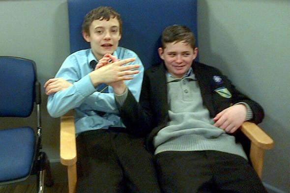 Sticky end for schoolboys who cemented their friendship with an arm-wrestle