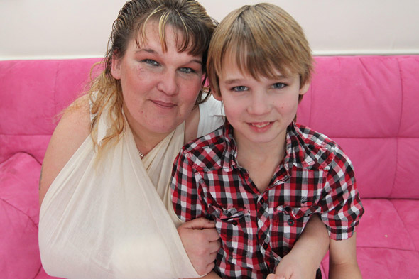 Hero schoolboy saves mum from burns after freak car accident