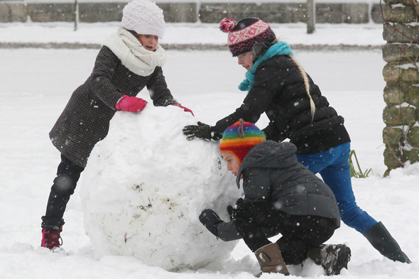 Girl, 16, crushed by giant snowball. Pelvis broke in four places