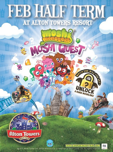 Moshi Monsters at Alton Towers