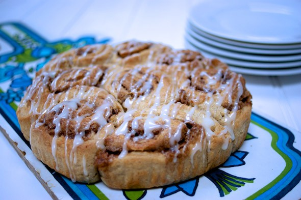 Tear and share cinnamon breakfast rolls