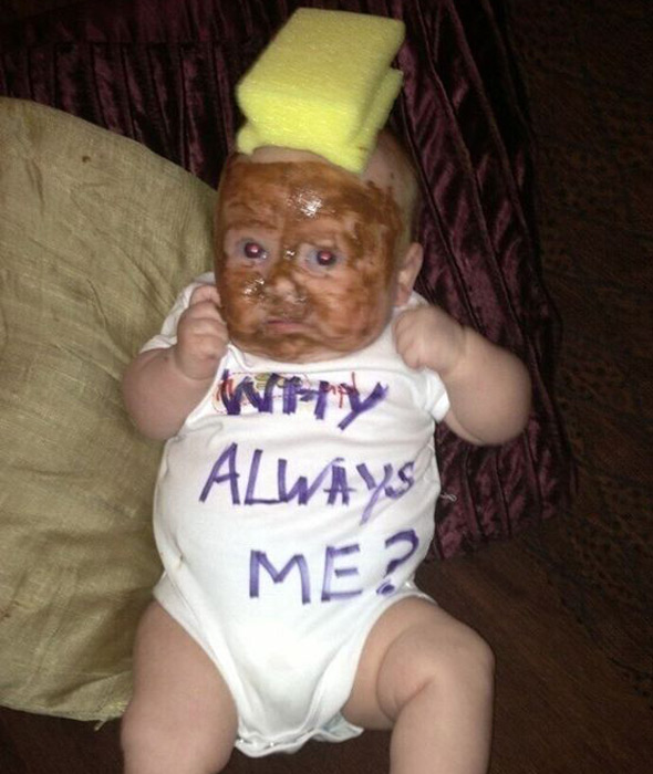 Parents 'blacked up' baby with chocolate spread to look like Mario Balotelli