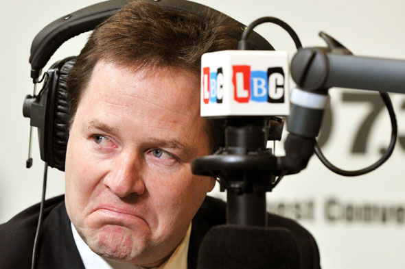 Livid mum berates Nick Clegg on LBC