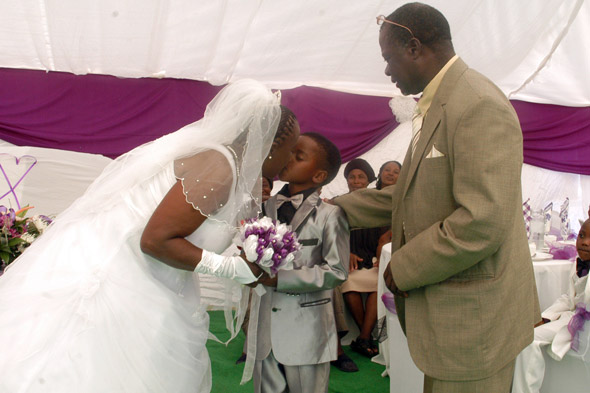 Boy aged 8 marries 61-year-old woman to please his dead ancestors (and his mum approves)!
