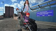 Mum complains station staff refused to help carry baby and buggy up stairs