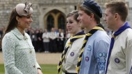 The Duchess of Cambridge shows off her baby bump