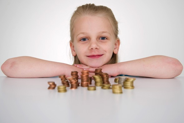 Raid the piggy bank! Children save 11 times more money than their parents