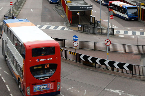 Four-year-old 'dragged along road by bus'