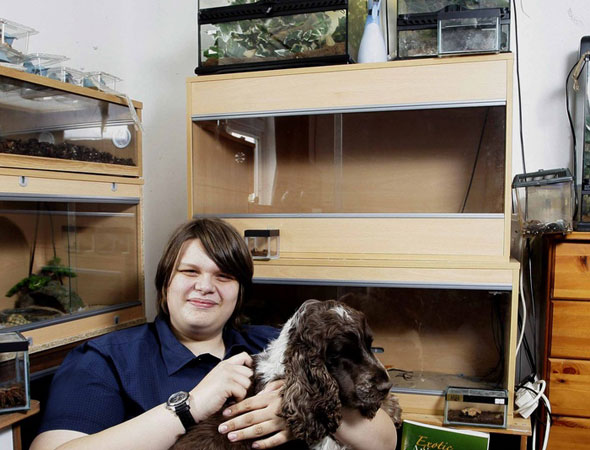 Teen's 300 exotic pets includes tarantulas, scorpions and snakes