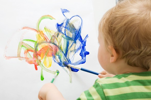 Is your children's art work theirs or yours?