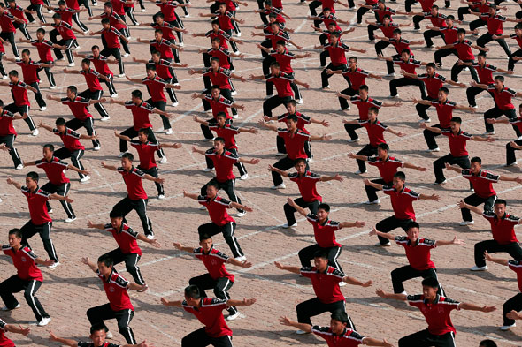 The world's most disciplined school children