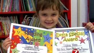 Girl, 5, reads 875 books in just one school year