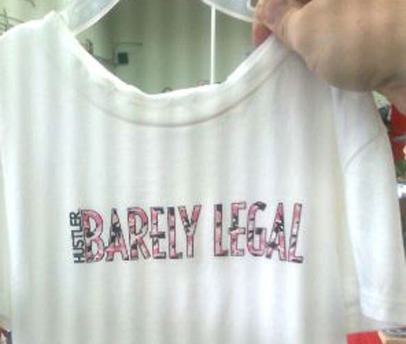 'Barely legal' slogan t-shirt for little girls