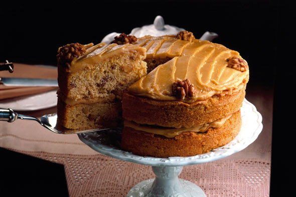 Stork Coffee and Walnut Cake