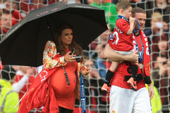 Coleen Rooney rumoured to be 'in labour' with Wayne at her bedside