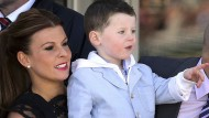 Coleen Rooney says Kai is fed up waiting for his new baby brother to arrive