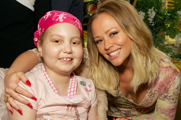 Girls Aloud's Kimberley Walsh is a big hit with Elise, 10