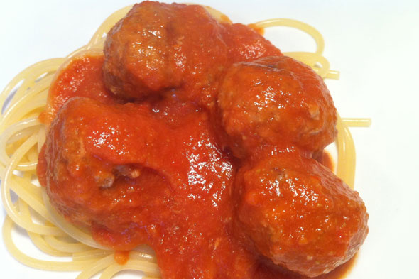 Our House Dad Cooks: Ella's Kitchen Marvellous Meatballs with Clever Tomato Sauce