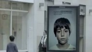 Anti-abuse poster campaign that's only visible to children