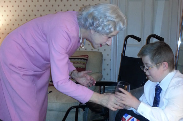 Queen Helen Mirren makes dying schoolboy's dream come true