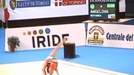 Amazing teen gymnast's routine goes viral