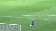 Video: Chelsea goalkeeper's son shows off his football skills