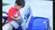 Video: Little boy falls asleep at the wheel!