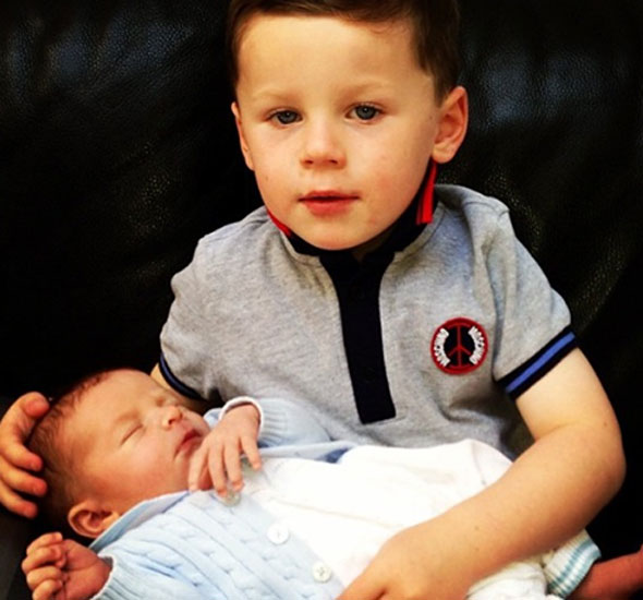 Wayne Rooney Baby Wayne Rooney shares cute photo of sons Kai and Klay Parentdish UK