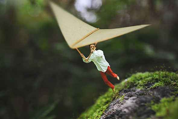 Teen's awe-inspiring images of shrunken down boy in fantastical world