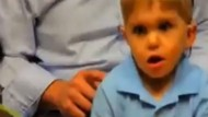 Video: Moment deaf toddler hears his dad's voice for the first time