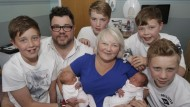 Parents beat 500,000 to one odds to welcome third set of twins