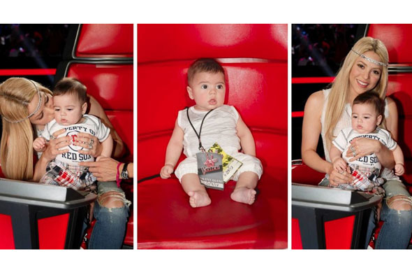 Starting him early! Shakira takes son Milan to The Voice set