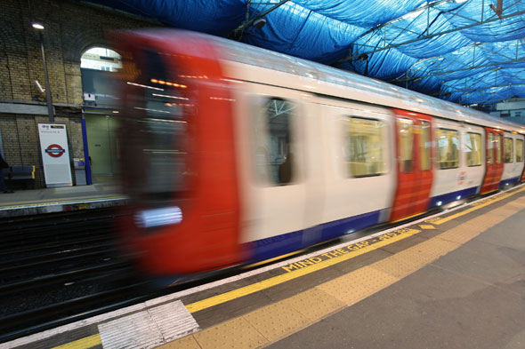Tube train departs with baby on board as doors close on mum on platform