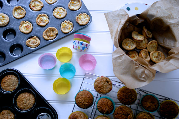 Batch cooking: Quiches, cakes and purées