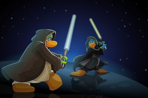 WIN Star Wars goodies and a month's membership to Club Penguin!