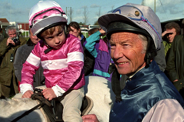 Horse heir to the throne? Racing legend Lester Piggott's son makes his sprinting debut