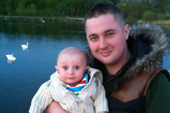 Dad not allowed to see newborn son after contracting hideous and contagious herpes rash