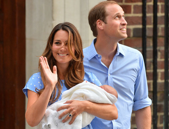 First pictures of the Royal Baby: Kate and William show their new son